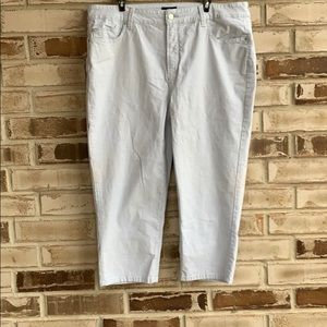 NYDJ • Pinstripe Crop Jeans Sz 16W